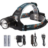 Zoomable Headlamp 3-Mode 1800Lumens Rechargeable LED Flashlight Water-resista... - Chickadee Solutions - 1