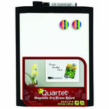 Quartet Magnetic Dry-Erase Board 8 1/2 x 11 Inches Black Frame (MHOW8511-BK) - Chickadee Solutions - 1