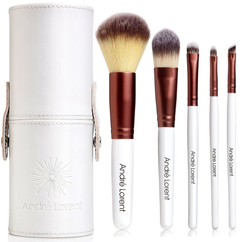 Andre Lorent 5 Makeup Brush Set with Designer Case for Eye and Face - Chickadee Solutions - 1