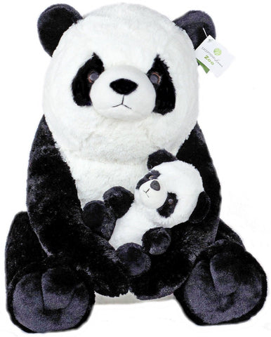 "Giant Pandas Plush Stuffed Animals - 18"" Teddy Bear with Baby Panda - Kids To... - Chickadee Solutions - 1"
