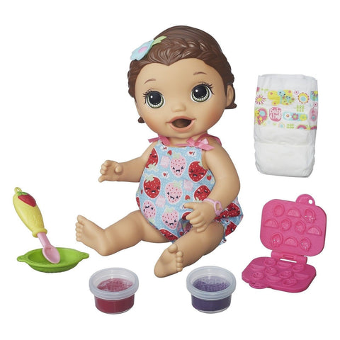 Baby Alive Super Snacks Snackin' Lily Brunette - Chickadee Solutions - 1