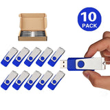 TOPSELL Pack of 10pcs 4GB 4G Swivel Design USB 2.0 Flash Drive Memory Stick F... - Chickadee Solutions - 1