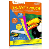 Bonsaii 3-layer Thermal Laminating Pouches9 x 11.5 Inches 3 Mil100 Pack - Chickadee Solutions - 1