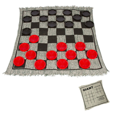 Giant Checkers Game Rug by Trademark Innovations - Chickadee Solutions - 1