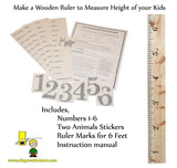 Personalized DIY Growth Chart Ruler Decal Kit for Wall or Do-It-Yourself Proj... - Chickadee Solutions - 1