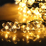 LTE 50 LED Solar Flower String Lights 23ft Outdoor Waterproof Blossom Decorat... - Chickadee Solutions - 1