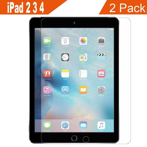 Supone 2-Pack iPad 2 3 4 Glass Screen Protector 9H Hardness HD Clear Film Ult... - Chickadee Solutions - 1
