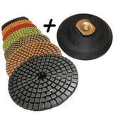 "STADEA 5"" Wet Diamond Polishing Pads Set for Concrete polishing + Rubber Back... - Chickadee Solutions - 1"