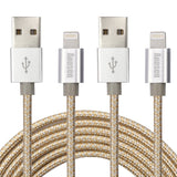 Aonsen Lightning Cable4Pack 6FT Nylon Braided 8 Pin iPhone CordCharge and Syn... - Chickadee Solutions - 1