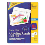 Avery Half-Fold Greeting Cards for Inkjet Printers 5.5 x 8.5 Inches White Box... - Chickadee Solutions