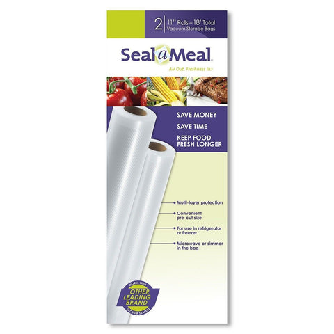 Seal-A-Meal 11-Inch by 9-Foot Rolls 2pk Clear 2 Rolls - Chickadee Solutions - 1