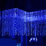 Ecandy 3M x 3M Curtains Fairy Designed String Light 300 LED Blue - Chickadee Solutions - 1