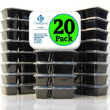 Choice Prep 2 Compartment Containers - 20 Pack - Chickadee Solutions - 1