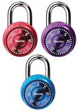 Master Lock 1533TRI Mini Combination Locks in Blue Purple and Red 3-Pack - Chickadee Solutions - 1