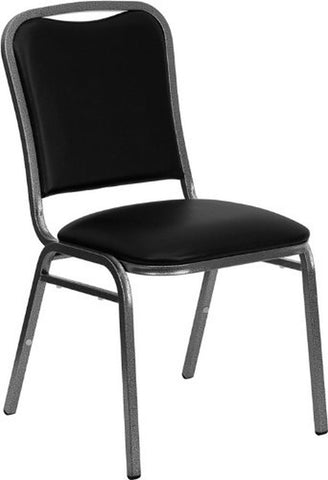 Flash Furniture NG-108-SV-BK-VYL-GG Hercules Series Stacking Banquet Chair wi... - Chickadee Solutions - 1