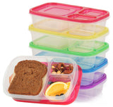 Bento Lunch Box Food Storage Containers for Kids and Adults 5 Containers 3-Co... - Chickadee Solutions - 1