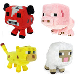 Mojiang Minecraft Animal Plush Set of 4: Baby Pig Baby Mooshroom Baby Ocelot ... - Chickadee Solutions