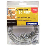 "Wire Rope Kit with Accessories 1/8"" x 30 feet - Flexible Durable Project Cabl... - Chickadee Solutions"