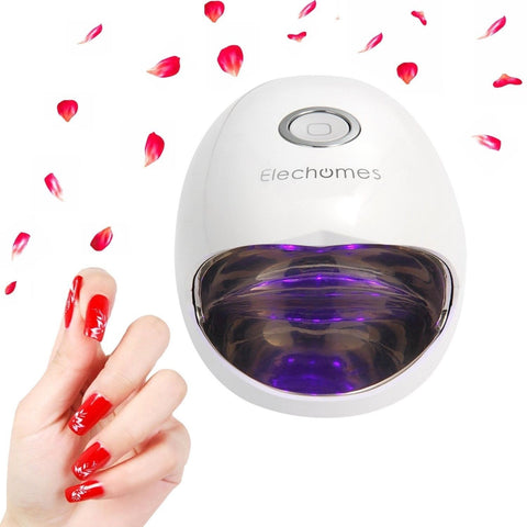 Nail Dryer - Elechomes EB301 6W Mini LED Gel Nail Curing UV Lamp Nail Gel Pol... - Chickadee Solutions - 1
