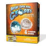 Geode Starter Rock Science Kit - Crack Open 4 Amazing Rocks and Find Crystals! - Chickadee Solutions - 1