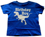"Custom Kingdom Boys ""Birthday Dinosaur"" T-shirt Royal Blue 6/8 Small - Chickadee Solutions"