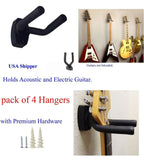 Top Stage GraK-Q4 Guitar Hangers Hooks Holders Wall Mount 4-Pack - Chickadee Solutions - 1