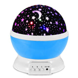 Night Lighting Lamp Mospro /  zhcheng 360 Degree Romantic Rotating Cosmos Star Moon Sky ... - Chickadee Solutions - 1