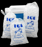 20 Lb Ice Bags with Drawstring Closure - 250 Bags/case 50mic - Chickadee Solutions