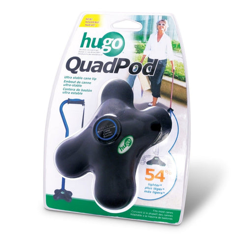 Hugo Mobility Quadpod Ultra Stable Cane Tip with Compact Quad Design 3/4 Inch... - Chickadee Solutions - 1
