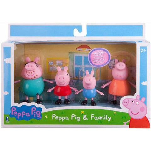 "Peppa Pig Family Pack 3"" Figures 4-Pack - Chickadee Solutions - 1"