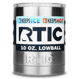 RTIC Stainless Steel Lowball with Lid 10oz - Chickadee Solutions - 1