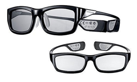 (2x Pair) Samsung Rechargeable 3D Active Glasses Black - Chickadee Solutions - 1