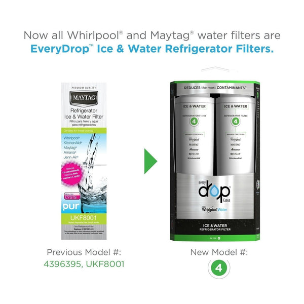 Everydrop by whirlpool refrigerator water filter 4 edr4rxd2 pack of 2 2 pack chickadee solutions - Whirlpool refrigerator ice and water filter pur ...