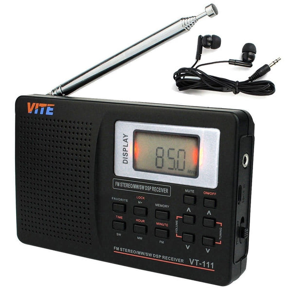 VITE VT 111 DSP AM FM LW Shortwave Radio with Clock and