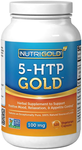 5-HTP 100mg 120 Vegetarian Capsules - The GOLD Standard Pure 5-HTP Extract Gu... - Chickadee Solutions - 1