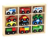 12 Pcs Wooden Train Cars & Emergency Vehicles Collection Fits Thomas Brio Chu... - Chickadee Solutions - 1