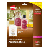 Avery Textured Print-To-The-Edge Arched Labels Laser Printers 3 x 2.25-Inches... - Chickadee Solutions - 1