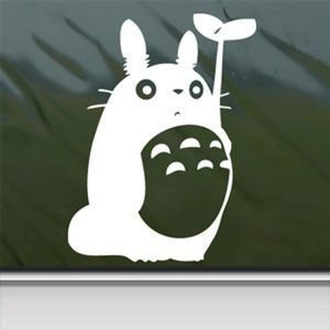 1 X Totoro White Sticker Decal Studio Ghibli White Car Window Wall Macbook No... - Chickadee Solutions