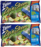 ZIPLOC ZIP N STEAM BAG-MEDIUM (Pack of 2) - Chickadee Solutions