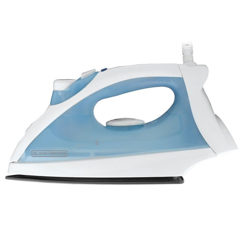 BLACK+DECKER F210 Steam Iron with Nonstick Soleplate White/Blue - Chickadee Solutions - 1