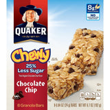 Quaker Chewy Granola Bars 25% Less Sugar Chocolate Chip 8 Bars Per Box (Pack ... - Chickadee Solutions - 1