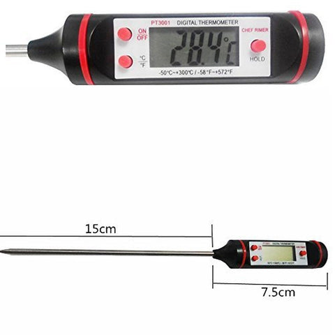 Chef Rimer Meat Thermometer Long Very Fast Accurate Instant Read Temperature ... - Chickadee Solutions - 1
