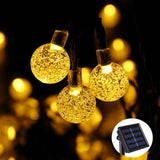 Solar String Lights Outdoor Globe Lights by ICICLE 20ft 30 LED 8 Modes Fairy ... - Chickadee Solutions - 1