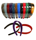 A Dozen 1 Inch Plastic Hard Headbands In Gorgeous Dark Colors - Chickadee Solutions - 1