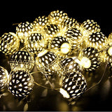 Goodia Battery Operated 10.49Ft 30er Gold Moroccan Orb LED Fairy Lights Curta... - Chickadee Solutions - 1