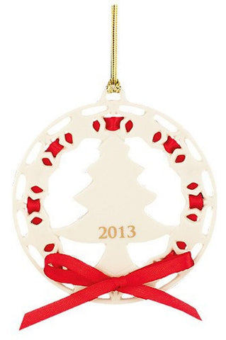 2013 Christmas Wrappings Christmas Tree Ornament by Lenox - Chickadee Solutions