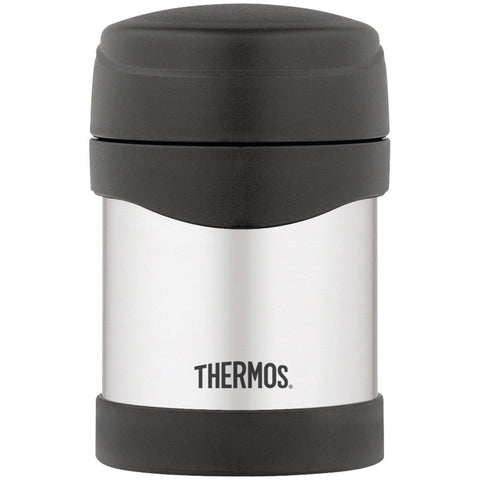 Thermos Stainless Steel Compact 10 Ounce Food Jar Black Thermos - Chickadee Solutions - 1
