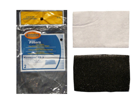(2) Kenmore Vacuum CF-3 Foam Filter 86888 Sears upright Non whispertone Canis... - Chickadee Solutions