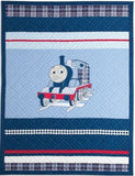 Thomas the Tank Engine Full Size Embroidered Quilt and Shams Set- Upscale Ver... - Chickadee Solutions - 1