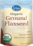 Viva Labs - The BEST Organic Ground Flax Seed 15 oz - Proprietary Cold-milled... - Chickadee Solutions - 1
